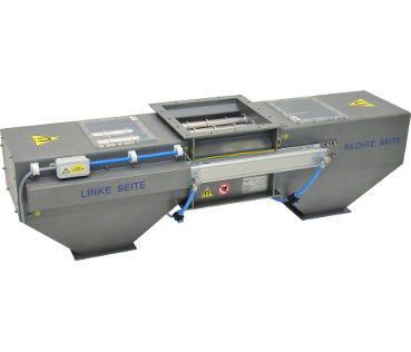 Magnetic separator for dry mixtures - two-sided characteristics (MSV PO)