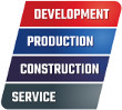 Developmnet, production, construction, service